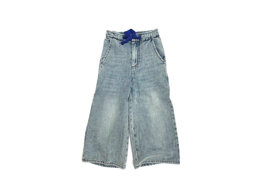 Wide Leg Jeans Faded Denim