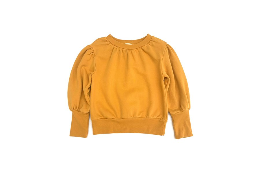 Long Live The Queen Puffed Sweater Mineral Yellow