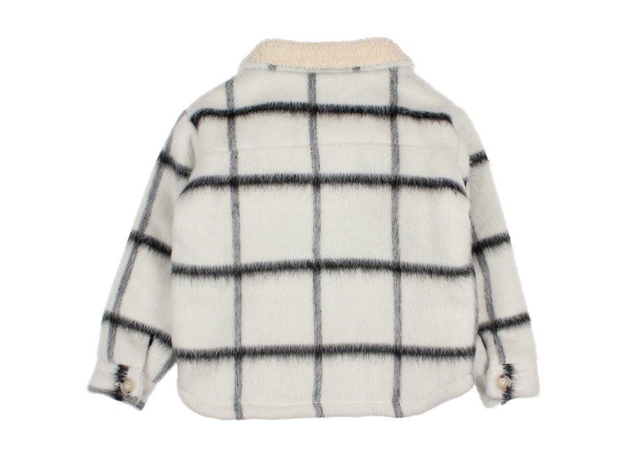 Buho Check Overshirt Jacket Ecru