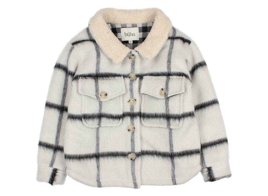 Check Overshirt Jacket Ecru