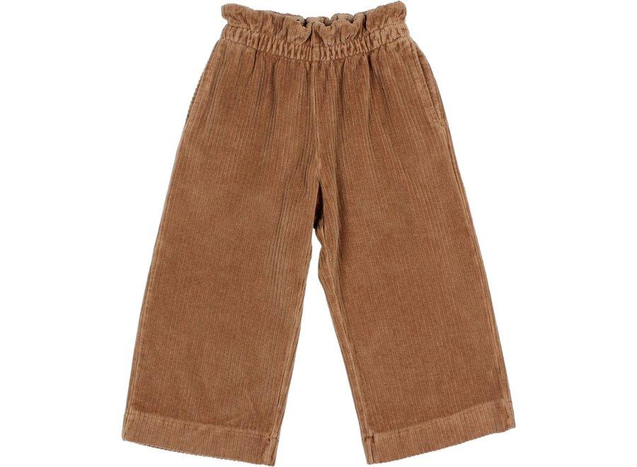 Knit Velour Culotte Pants Muscade