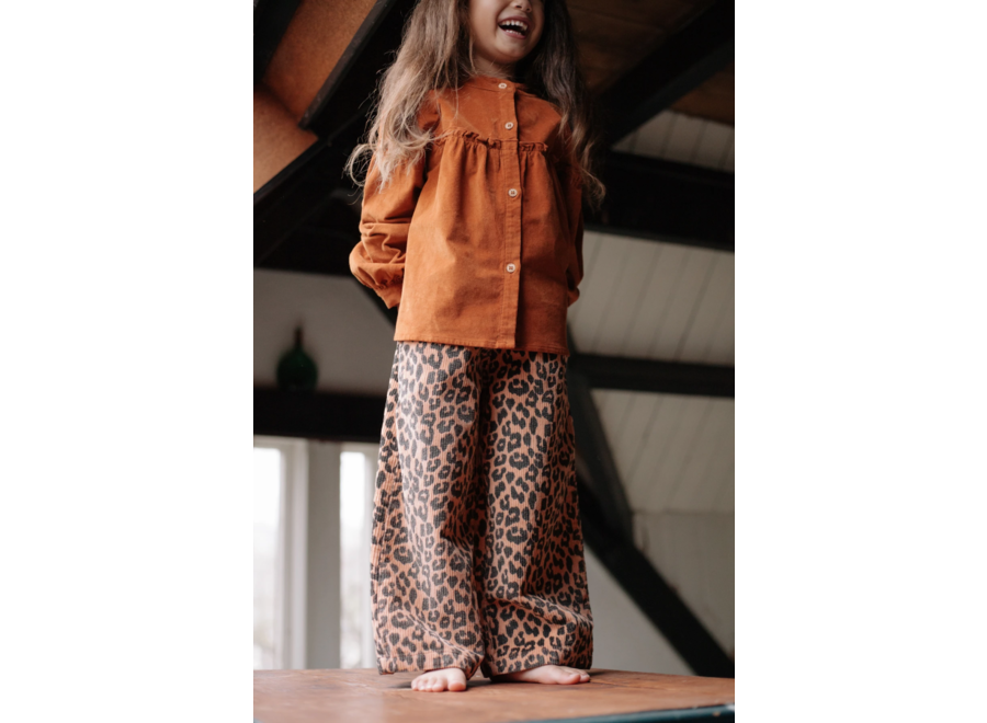 Daily Brat Bella Leopard Corduroy Pants Hazel
