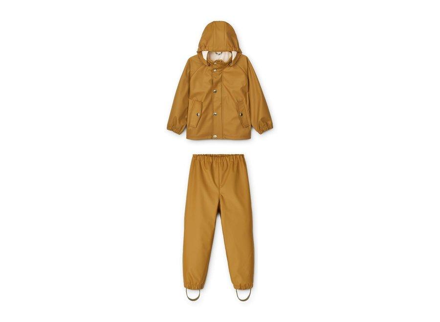 Serena Rainwear Set Golden Caramel