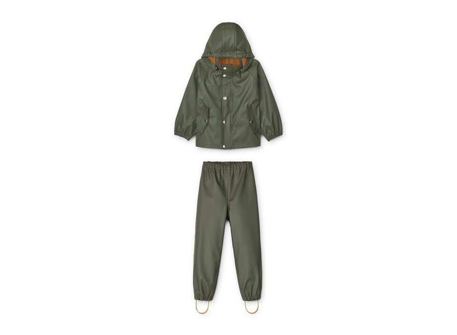 Serena Rainwear Set Hunter Green