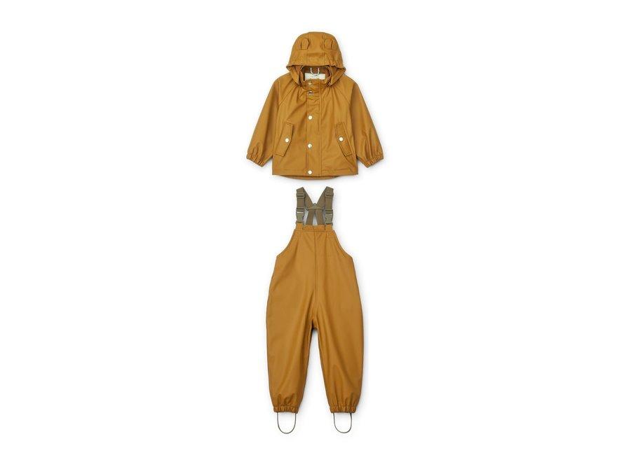 Rafael Rainwear Set Golden Caramel