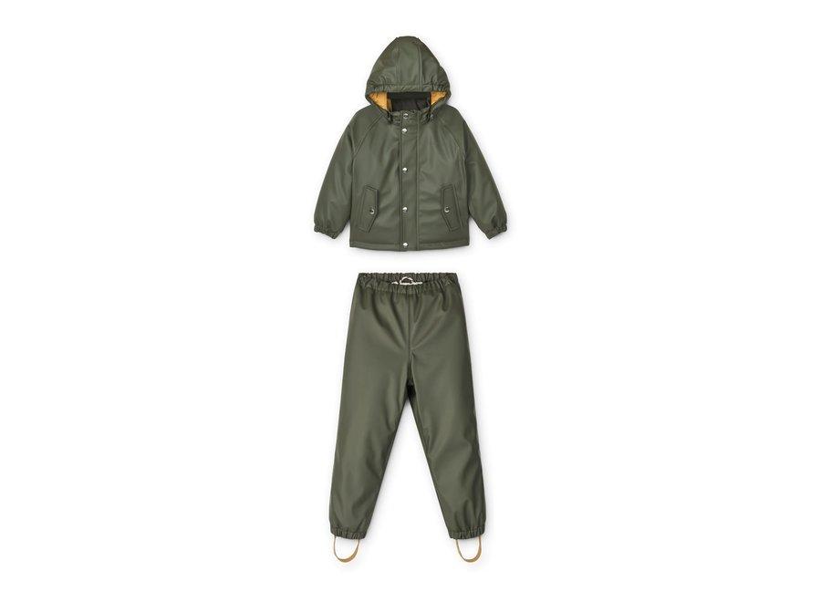 Ivy Rainwear Set W/Padding Hunter Green