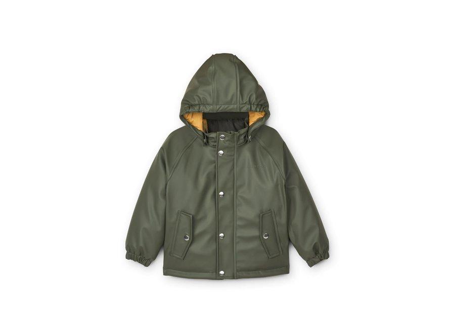 Liewood Ivy Rainwear Set With Padding Hunter Green