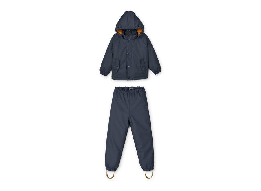 Ivy Rainwear Set W/Padding deep navy