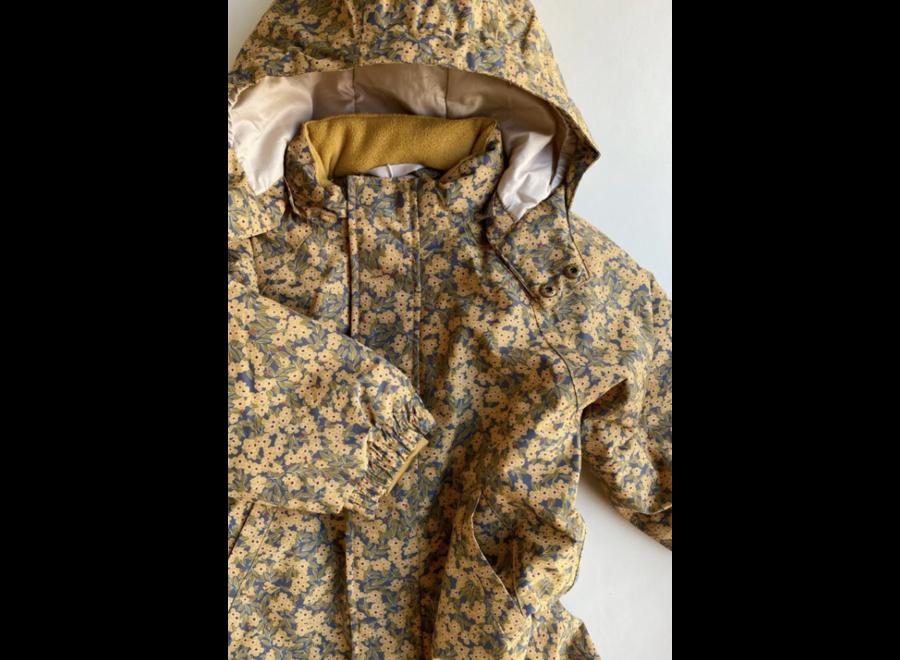 Konges Slojd Nohr Snowsuit Print Winter Leaves Mustard