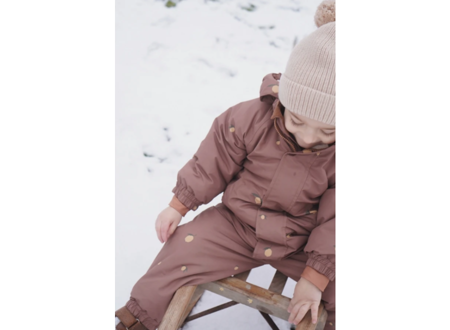 Konges Slojd Nohr Snowsuit Print Lemon Brown
