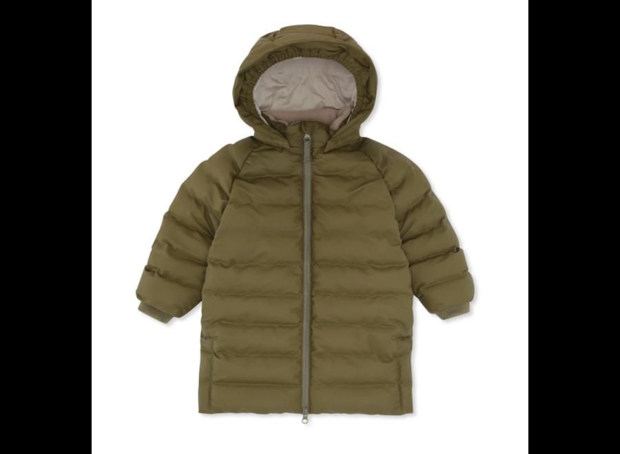 Ace Long Rain Down Jacket Fir Green
