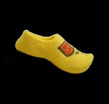 De traditionele gele pantoffel klomp