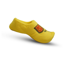The traditional yellow slipper clog
