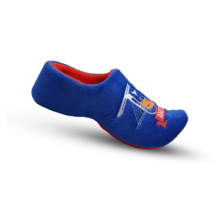 Clog slippers Blue with bicycle