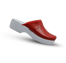 Swedish Clogs red with PU soley