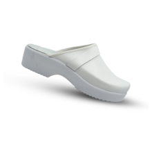 Swedish Clogs white with PU soley - Copy