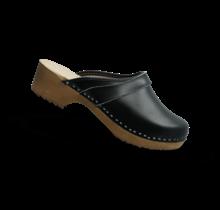 Swedish clogs black genuine leather