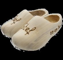 Geboorteklompjes - houten klompen inclusief gravering
