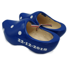 Clogs blue with print