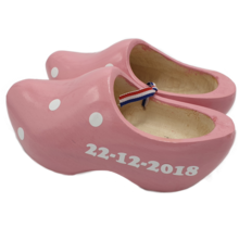Clogs pink with print