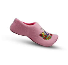 Klomppantoffel roze kuspaartje