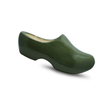 Wooden clog army green