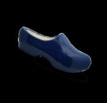 Houten klomp blauw