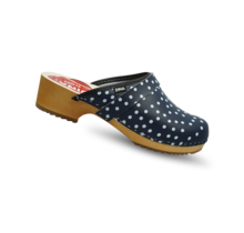 Dina Blue with dots open
