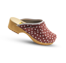 DWC: Swedish clogs red with dots -