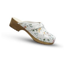 DWC: Swedish Clogs flowers real leather