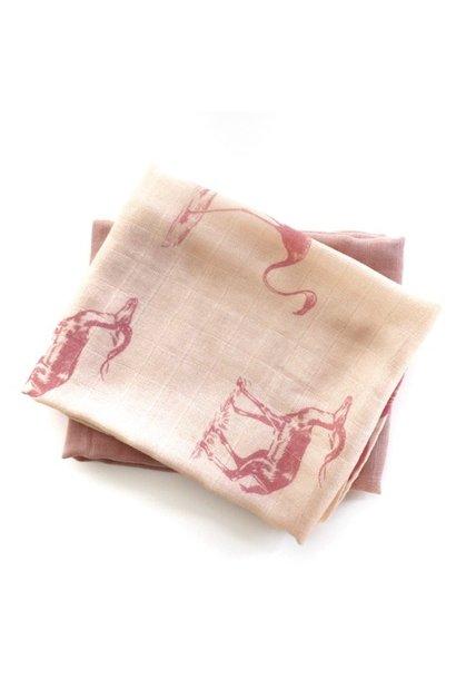 Hydrofieldoeken Misty Rose/ Pink Animal
