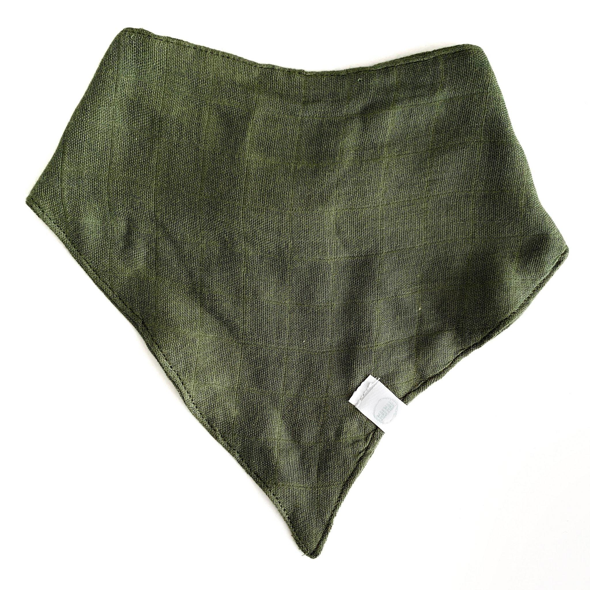 Kwijlslabbetje - Moss Green-2
