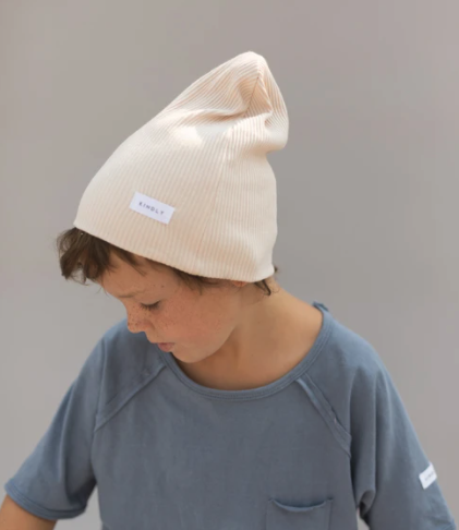 Ribbed Beanie Butter-1
