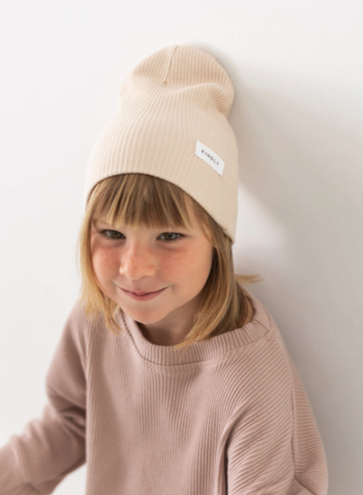 Ribbed Beanie Butter-4