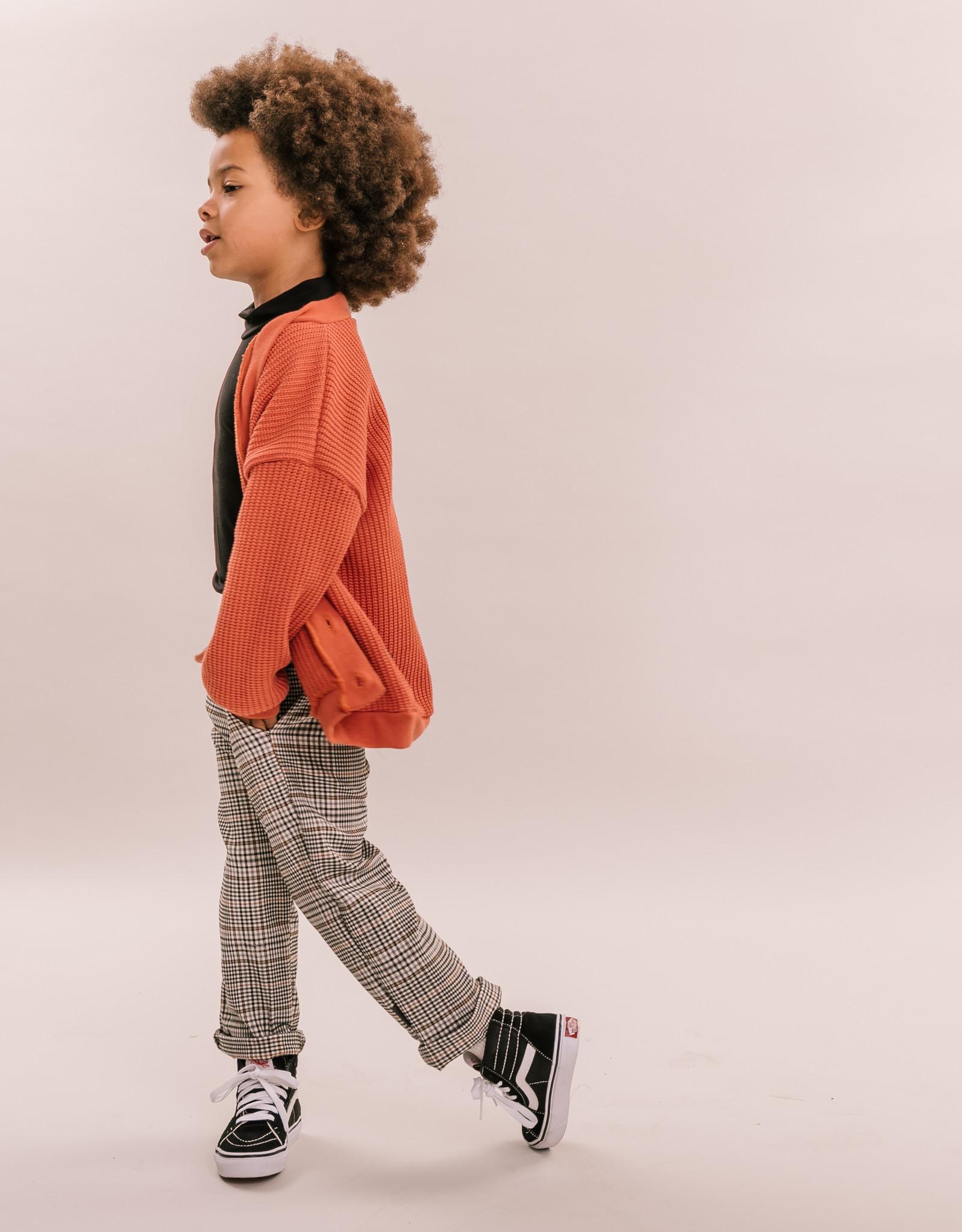 No Labels Kidswear Cardigan - Rust