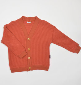No Labels Kidswear Cardigan - Rust