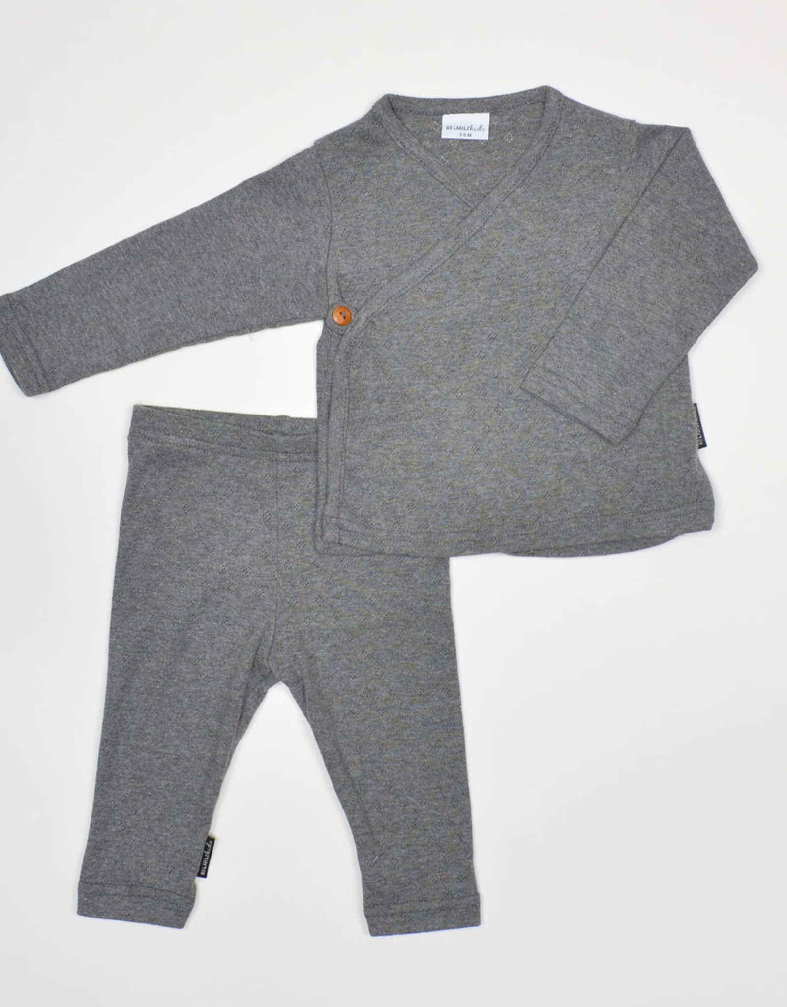 No Labels Kidswear Legging - ajour grey