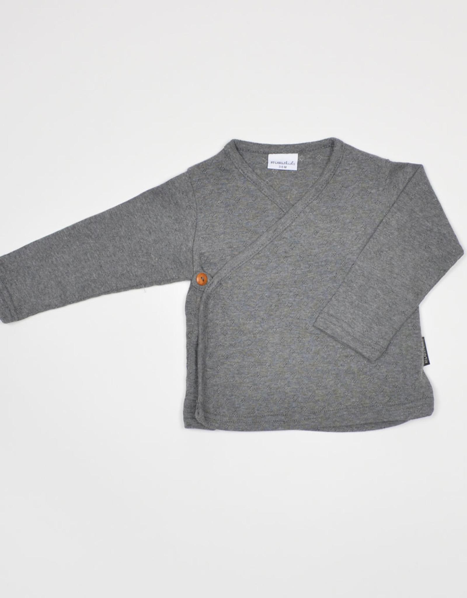 No Labels Kidswear Wrap top - ajour grey