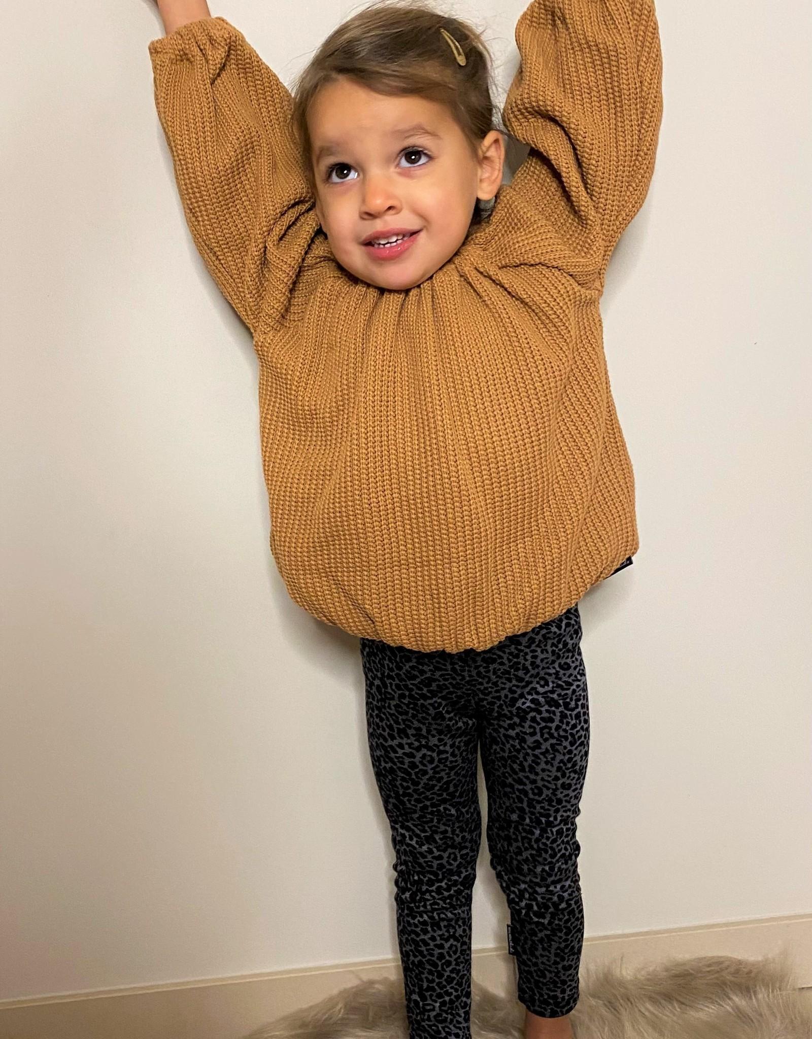 No Labels Kidswear Balloon top - knit camel