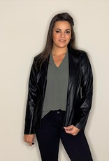 Leatherlook blazer