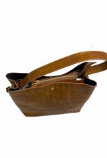 Handtas - cognac croco