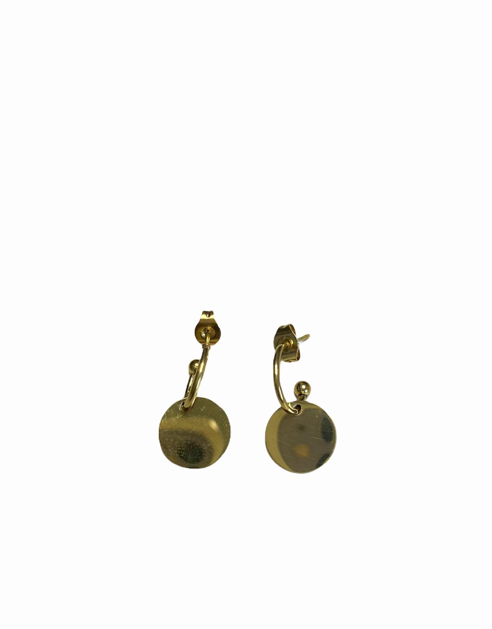 Oorbellen - gold cirkel