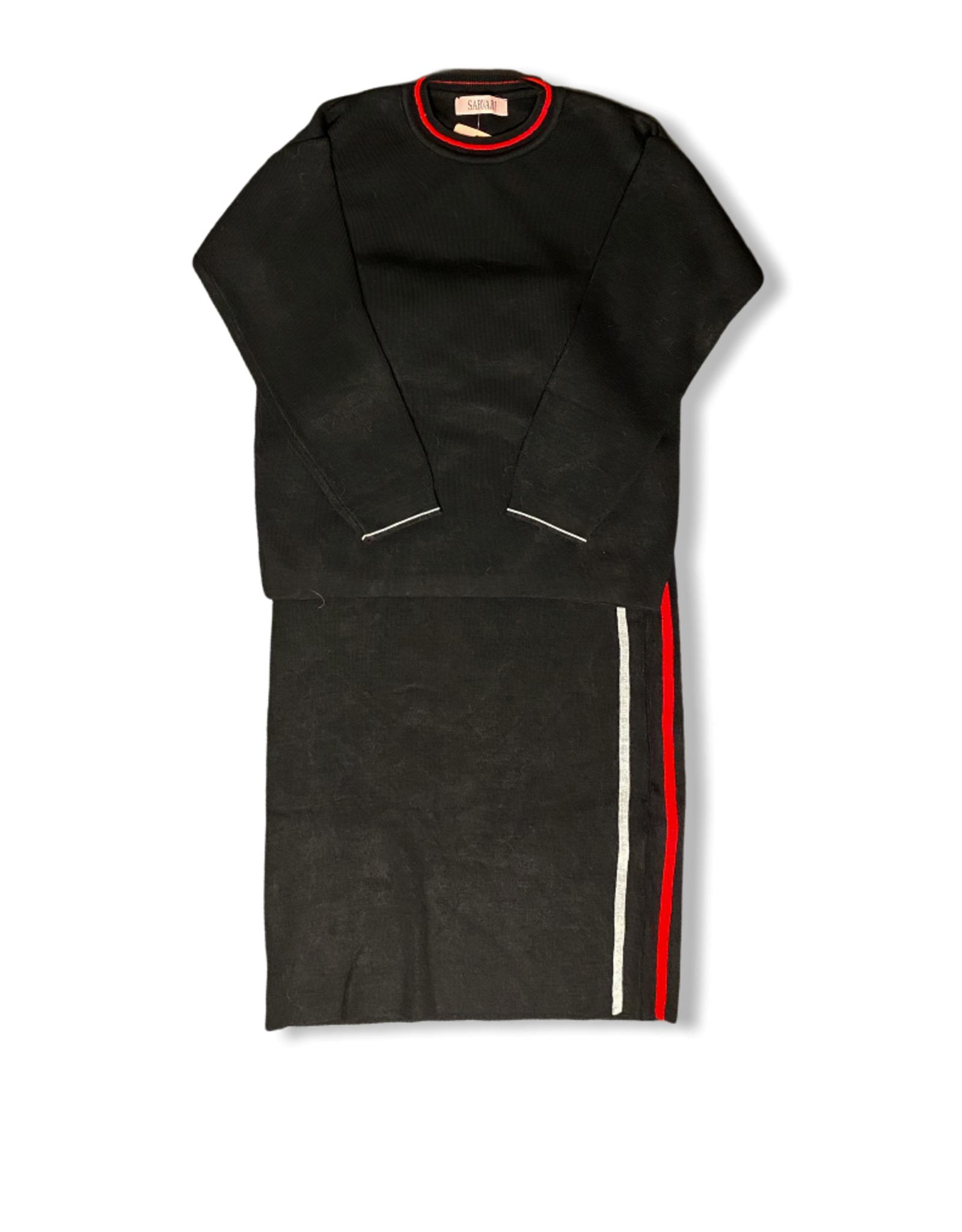 Set trui en rok zwart
