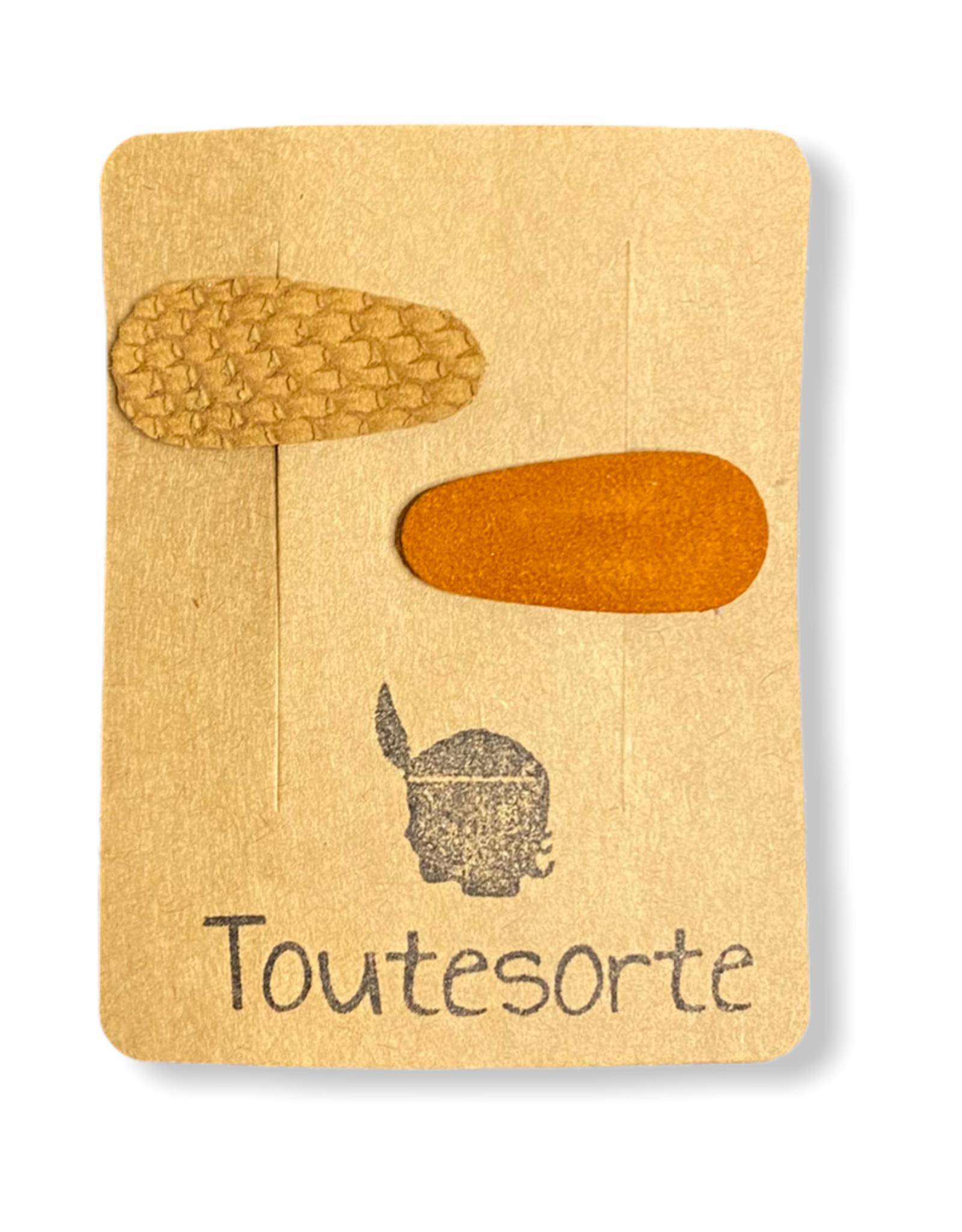 Toutesorte Mini speldjes - cognac/roest