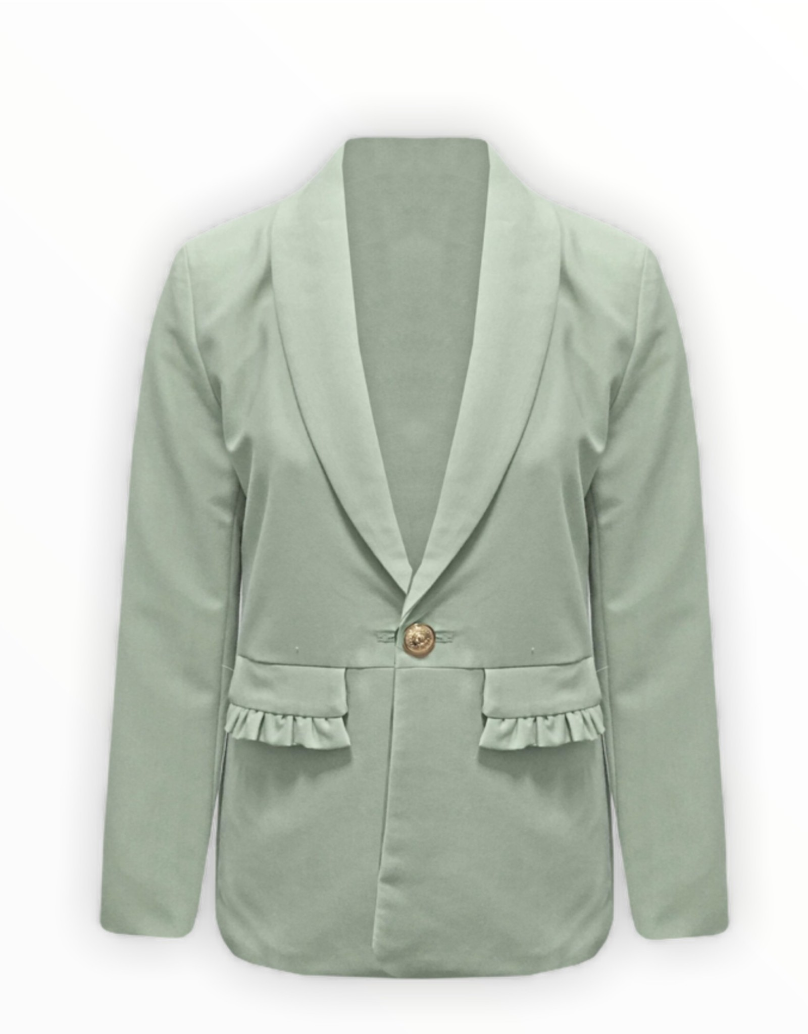 NEW IN Ruffle blazer groen