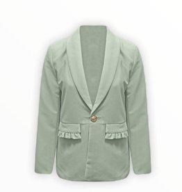 NEW IN Ruffle blazer groen