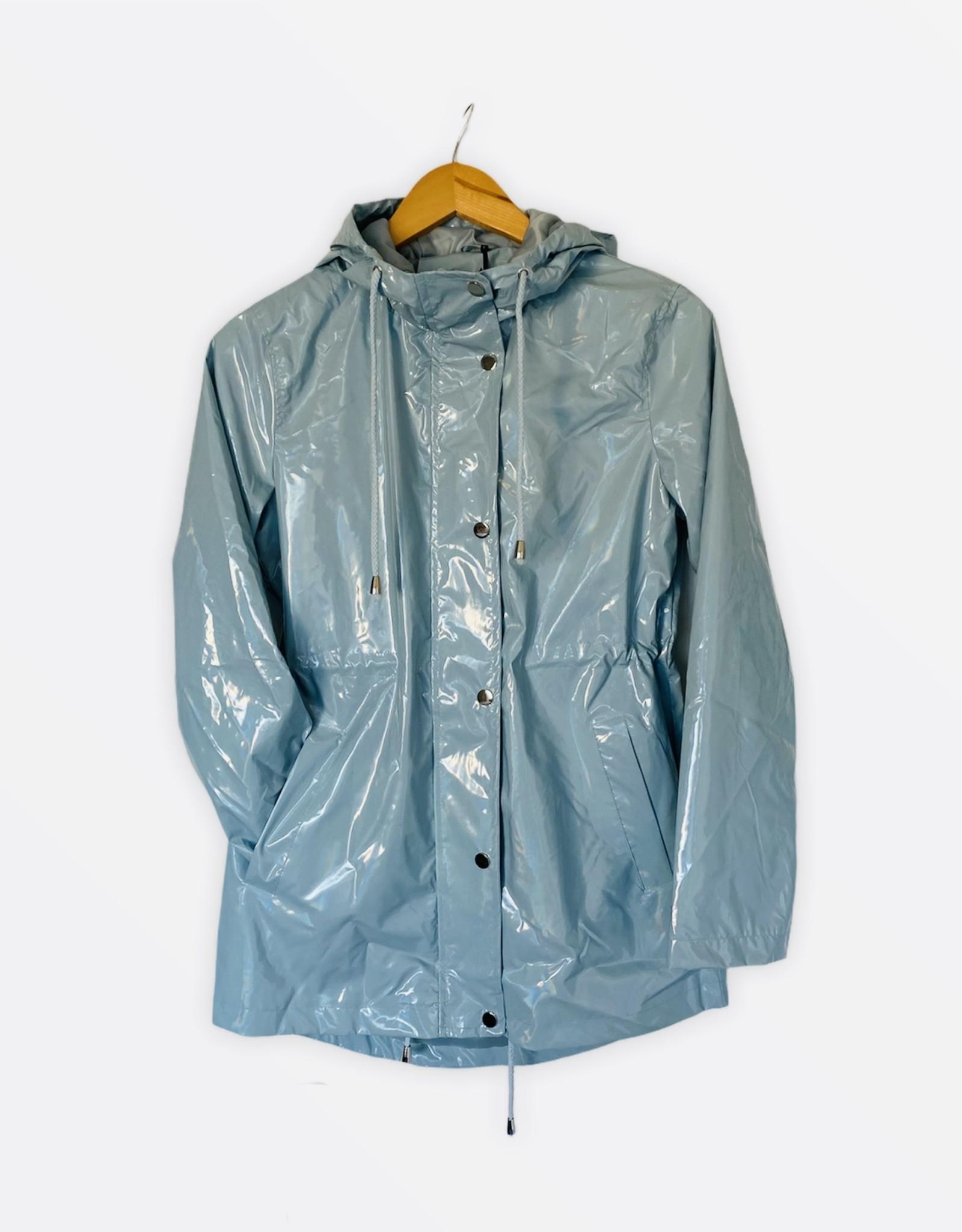 NEW Shimmer raincoat blue