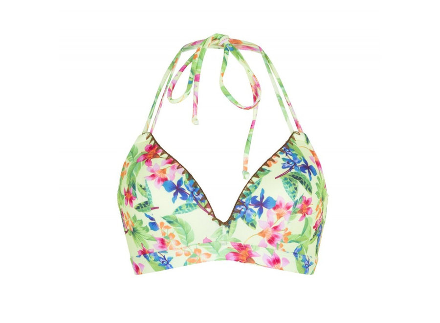 Moulded Triangle Bra Flower Print
