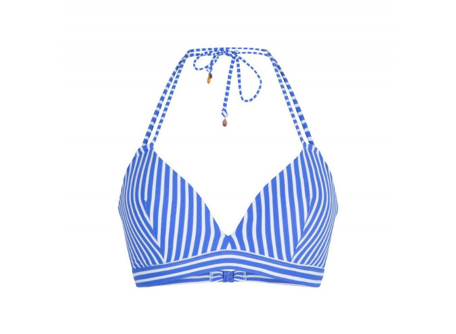 Bossa Moulded Triangle Bra Stripes Print