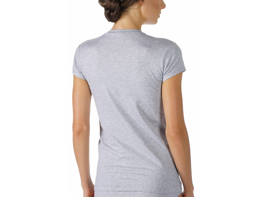 Cotton Pure T-Shirt Grau Melange